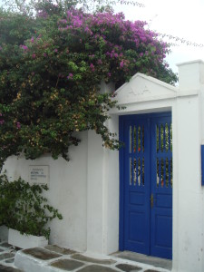 In a backstreet of Mykonos