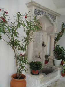 Holy water at Panagia Tourliani