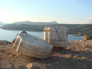 Fragments of the Temple of Poseidon, Sounion