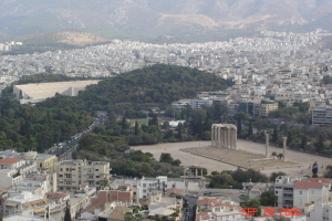 Looking down on Athens