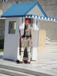 A guard at the House of Parliament., Athens