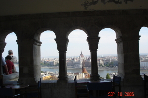 Looking across the Danube from Buda to Pest