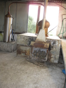 A Rakizio, or, Raki still,  on a farm near Vouves in Crete