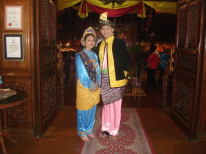 Traditional Malaysian dress in Kuala Lumpur