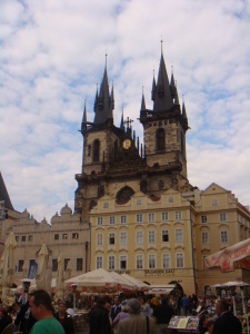 Rows of beautiful buildings line the Old Town Square
