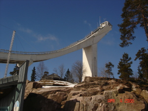 Holmenkollen's giant ski ramp
