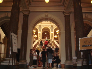 The entrance to Prague's National Museum