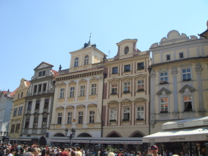 Pristine building in Prague's Old Town Square