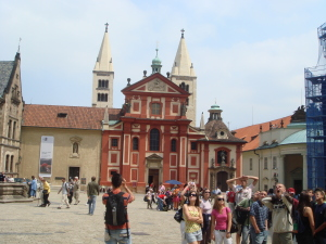 A broad mix of buildings at Prague Castle