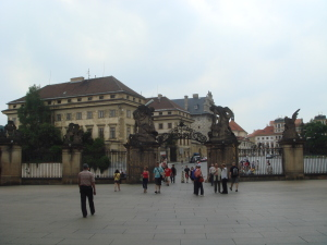 At the gates of Prague Castle