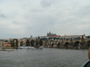 Prague, a view across the river