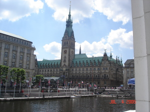 Hamburg's town hall
