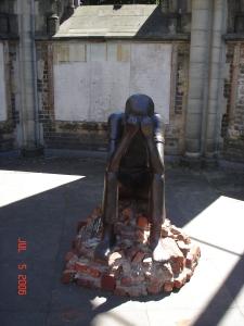 The Sandborstel memorial in the courtyard at Saint Nikolai