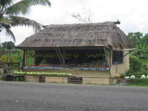 A roadside stall in Fiji