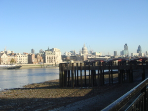The tide was out on the Thames