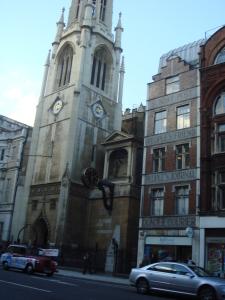 Old newspaper buildings in Fleet Street