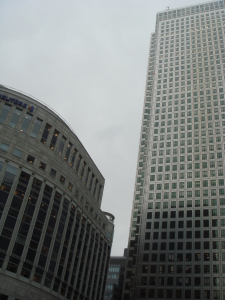 Concrete, steel and glass at Canary Wharf