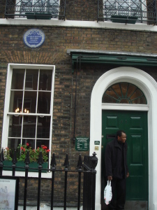 Charles Dickens' house in Doughty Street