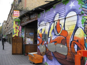 Graffitti in Brick Lane