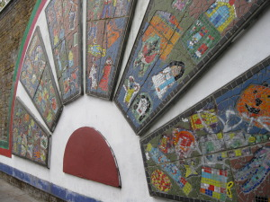 Muliticultural Mosaic in Brick Lane