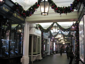 Christmas Decorations, Burlington Arcade, London