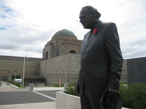 The statue of Weary Dunlop at the Australian War Memorial
