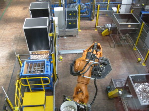 Titan the Robot at work in the Royal Australian Mint