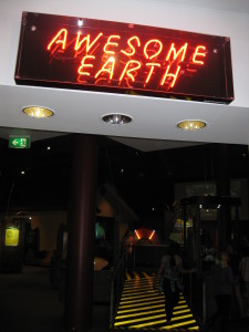 Questacon's Awesome earth gallery - the place to learn about earthquakes, tsunamis and bushfires