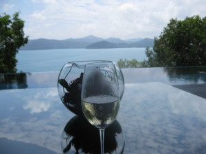 The view from qualia's Long Pavilion