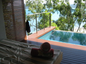 The balcony of our qualia pavilion