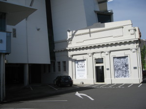 Puke Ariki's old/new façade