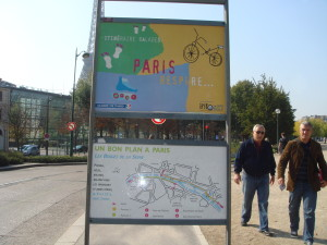 A walking plan for the  the Seine