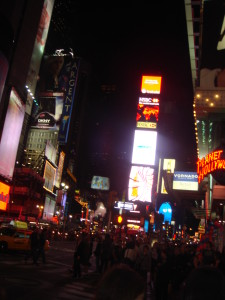 Times Square, just around the corner from the W