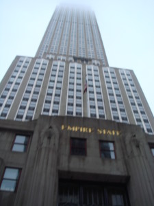 The Empire State Building from the NY City Sights bus