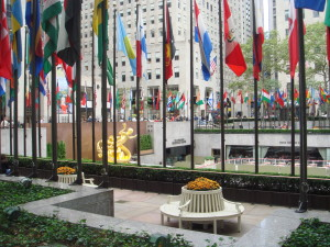 The courtyard of the Rockefeller Centre