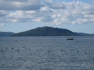Lake Rotorua and Mokoia Island