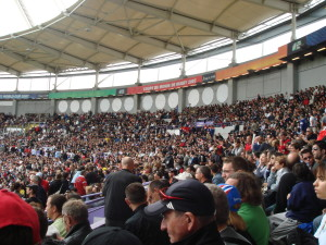 The Crowd at the Stade de Toulouse for the 2007 match between Romania and the All Blacks,