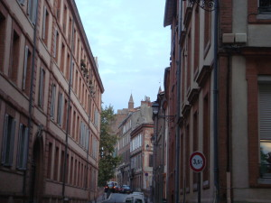 The pink brick buildings of Toulouse