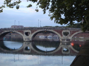 France, Toulouse, TravelstripeBridge over the Garonne, Toulouse