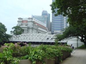 The Fullerton Hotel and some modern giants