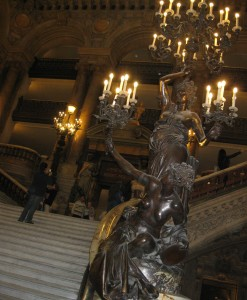 The grand staircase of Le Palais Garnier