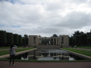 The American war graves on the Normandy coast