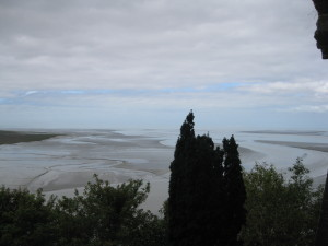 The view from Mont Saint Michel