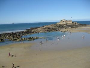 The beach at Saint Malo