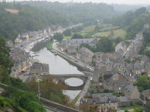 Looking down on Dinon's ancient river port