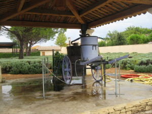 Ancient machinery at the Lavender Museum