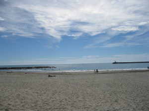 The beach at Les Saintes Maries de La Mer