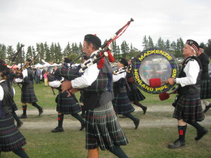 The Mackenzie Pipe Band at the Fairlie Show