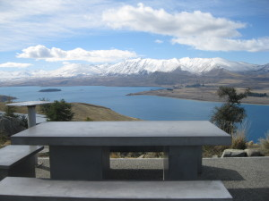 The View from Mount John's Astro Cafe
