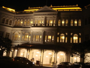 Raffles Hotel by night